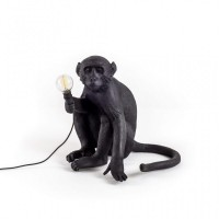 ansuner设计师定制家具   现代创意树脂手工猴子灯