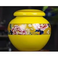 景德镇定做陶瓷膏方罐厂家,1斤500克罐子药罐密封罐批发
