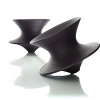 ansuner设计师定制家具  创意户外360°旋转陀螺椅