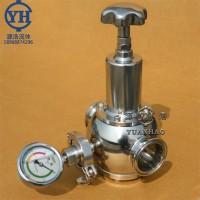 源浩厂家供应不锈钢快装减压阀 卫生级高洁净减压阀